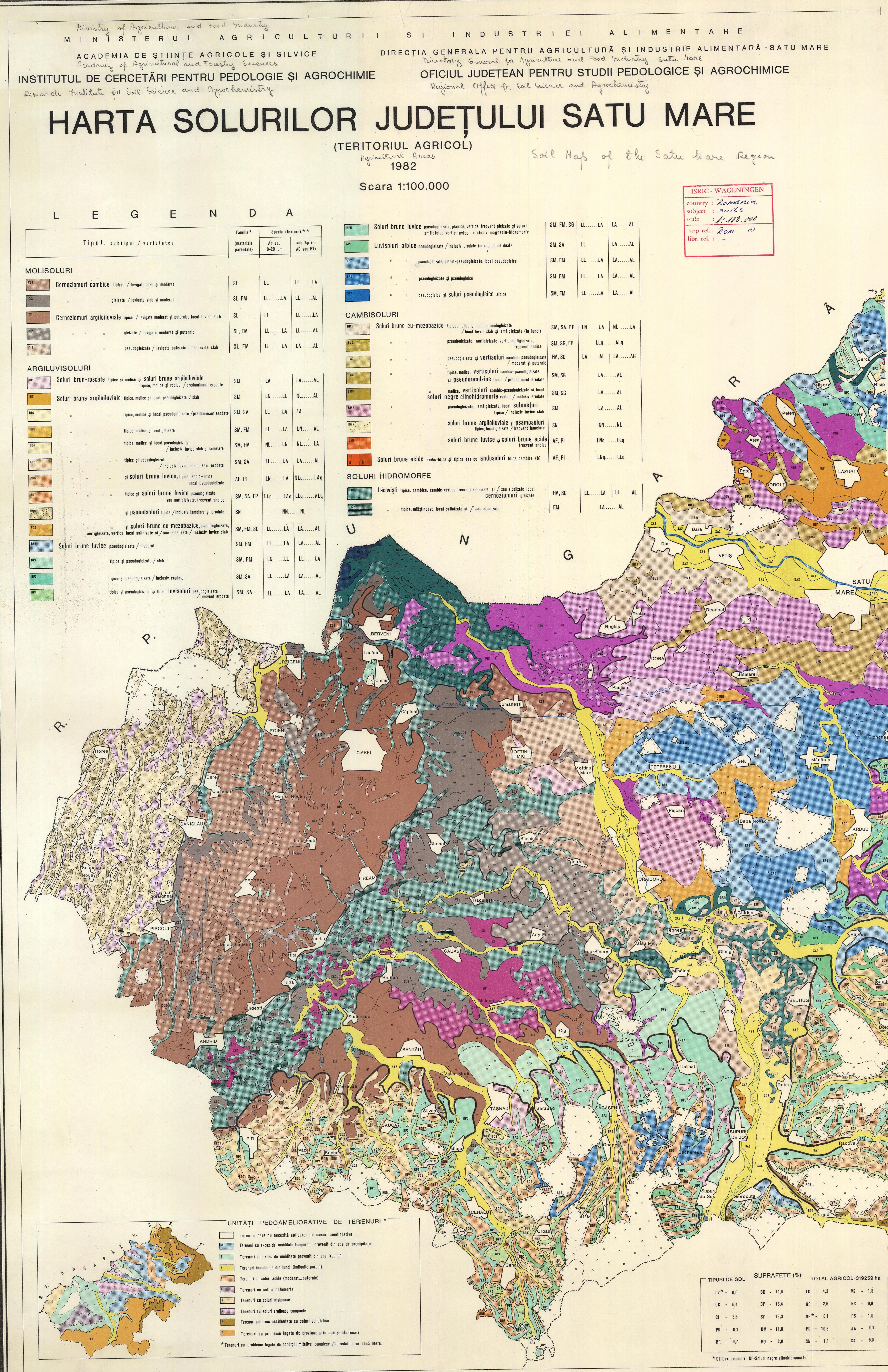 Harta Solurilor Din Judetul Satu Mare